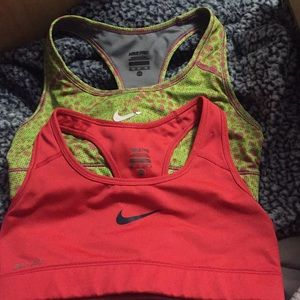 Xs Nike sports bras 25$ for both
